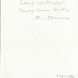 Image for K1052 - Expert opinion by Berenson, circa 1920s-1950s