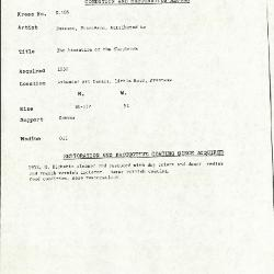 Image for K0105 - Condition and restoration record, circa 1950s-1960s