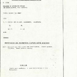 Image for K1062A - Condition and restoration record, circa 1950s-1960s