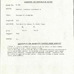 Image for K1066 - Condition and restoration record, circa 1950s-1960s