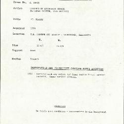 Image for K1062B - Condition and restoration record, circa 1950s-1960s