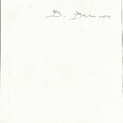 Image for K1059 - Expert opinion by Berenson, circa 1920s-1950s