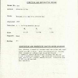 Image for K1065 - Condition and restoration record, circa 1950s-1960s