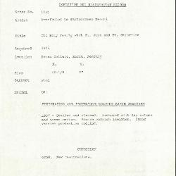 Image for K1055 - Condition and restoration record, circa 1950s-1960s