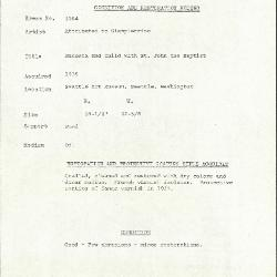 Image for K1064 - Condition and restoration record, circa 1950s-1960s