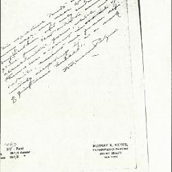 Image for K1063 - Expert opinion by Perkins, circa 1920s-1940s