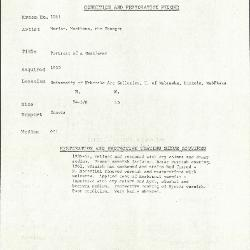 Image for K1061 - Condition and restoration record, circa 1950s-1960s