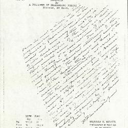 Image for K1076 - Expert opinion by Perkins, circa 1920s-1940s