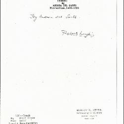 Image for K1081 - Expert opinion by Longhi, circa 1920s-1950s