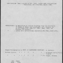 Image for K0108 - Art object record, circa 1930s-1950s
