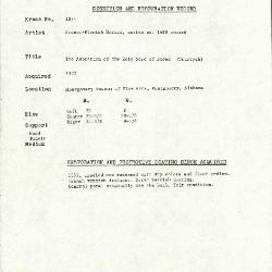 Image for K1071 - Condition and restoration record, circa 1950s-1960s