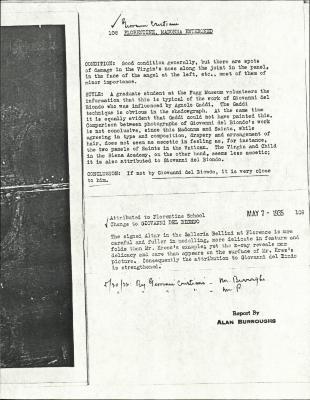 Image for K0108 - Alan Burroughs report, circa 1930s-1940s
