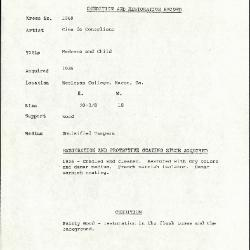 Image for K1069 - Condition and restoration record, circa 1950s-1960s