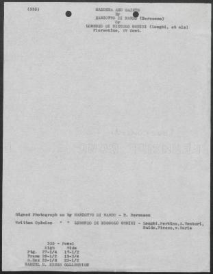 Image for K1093 - Art object record, circa 1930s-1950s