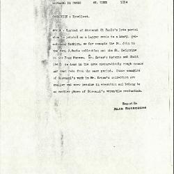 Image for K1094 - Alan Burroughs report, circa 1930s-1940s