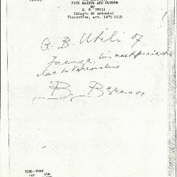 Image for K1088 - Expert opinion by Berenson, circa 1920s-1950s