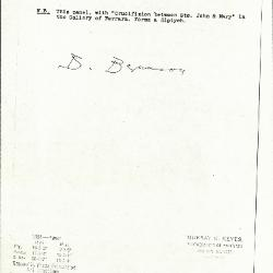 Image for K1091 - Expert opinion by Berenson, circa 1920s-1950s