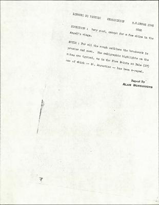 Image for K1093 - Alan Burroughs report, circa 1930s-1940s