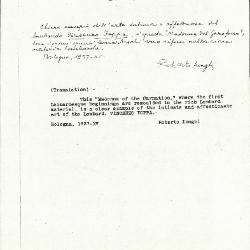 Image for K1092 - Expert opinion by Longhi, 1937