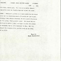 Image for K1091 - Alan Burroughs report, circa 1930s-1940s