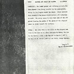 Image for K1087 - Alan Burroughs report, circa 1930s-1940s