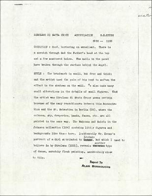 Image for K1103 - Alan Burroughs report, circa 1930s-1940s