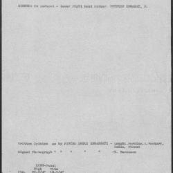 Image for K1099 - Art object record, circa 1930s-1950s