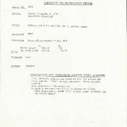 Image for K1101 - Condition and restoration record, circa 1950s-1960s