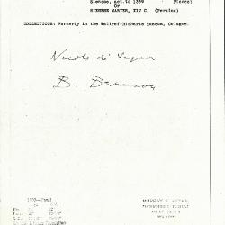 Image for K1102 - Expert opinion by Berenson, circa 1920s-1950s