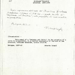 Image for K1097 - Expert opinion by Longhi, 1937