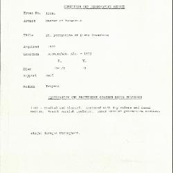 Image for K1108B - Condition and restoration record, circa 1950s-1960s