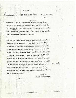 Image for K1107A - Alan Burroughs report, circa 1930s-1940s