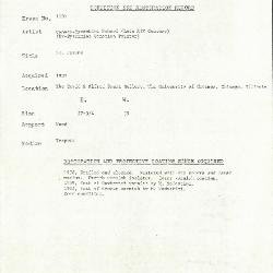 Image for K1109 - Condition and restoration record, circa 1950s-1960s
