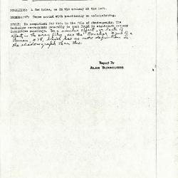 Image for K0111 - Alan Burroughs report, circa 1930s-1940s