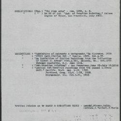 Image for K0111 - Art object record, circa 1930s-1950s