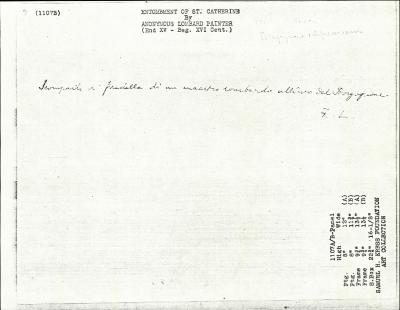 Image for K1107B - Expert opinion by Longhi, circa 1920s-1950s