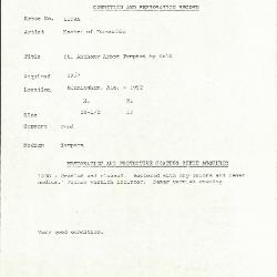 Image for K1108A - Condition and restoration record, circa 1950s-1960s