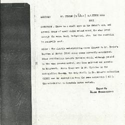 Image for K1111 - Alan Burroughs report, circa 1930s-1940s