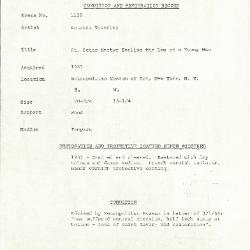 Image for K1116 - Condition and restoration record, circa 1950s-1960s