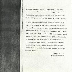 Image for K1115 - Alan Burroughs report, circa 1930s-1940s