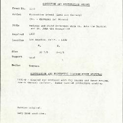Image for K1121 - Condition and restoration record, circa 1950s-1960s