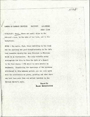 Image for K1128 - Alan Burroughs report, circa 1930s-1940s