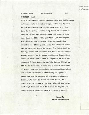 Image for K0113 - Alan Burroughs report, circa 1930s-1940s