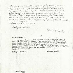 Image for K1123B - Expert opinion by Longhi, 1937