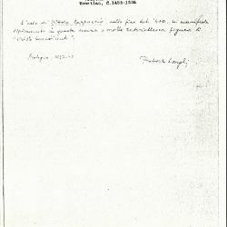 Image for K1125 - Expert opinion by Longhi, 1937