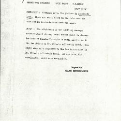 Image for K1122A - Alan Burroughs report, circa 1930s-1940s