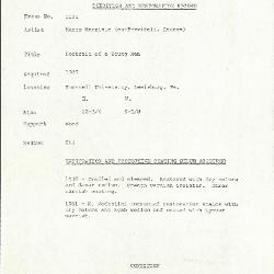 Image for K1124 - Condition and restoration record, circa 1950s-1960s