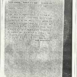 Image for K1132 - Alan Burroughs report, circa 1930s-1940s