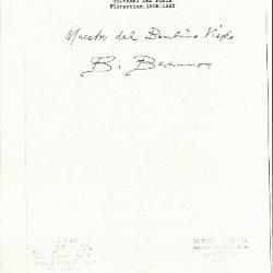 Image for K1135 - Expert opinion by Berenson, circa 1920s-1950s