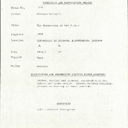 Image for K1140 - Condition and restoration record, circa 1950s-1960s